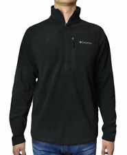 NEW COLUMBIA MENS FAST TREK JACKET HALF ZIP FLEECE COLOR BLACK SIZE MED MSRP 70