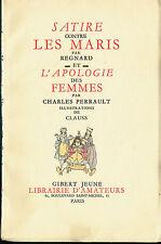 SATIRE CONTRE LES MARIS par REGNARD et APOLOGIE DES FEMMES par PERRAULT CHARLES