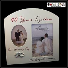 40th ANNIVERSARY 40 Years Together Ruby Photo Frame