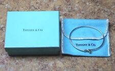 TIFFANY & CO. 18K GOLD & STERLING SILVER LOVE KNOT BANGLE W/ BOX & BAG