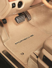NEW! 2010-2014 Front Floor Mats Tan Porsche Panamera Embroidered Logo Pair