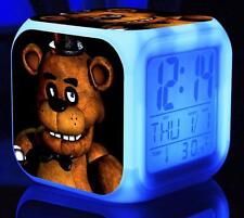 Hot!!! LED Alarm Clock FNAF Five 5 Nights at Freddy's Colorful Color Alarm Clock