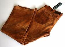 "Roberto Cavalli Brown Leather Trousers Jeans Bootcut W 32"" L 30"" RRP £800 pants"