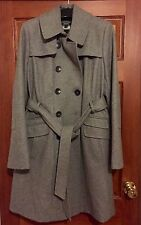 GENUINE DKNY WOMANS SIZE 12 PALE GREY OVERCOAT