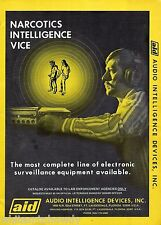 1973 POLICE Surveillance Equipment Narcotics Vice AID Audio Intelligence AD