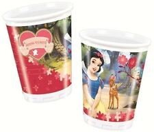 Snow White 8 PLASTIC CUPS - 200ml (Party/Decoration/Birthday)