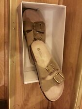 New White Mountain HELGA Taupe/Suede Womens sandles - Genuine Leather Size - 7 M