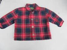 Giesswein Trachtenhemd Hemd Jungen Kinder rot dunkelblau kariert Größe 80  (S24)