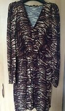MAJE Tiger Print V Neck Dress Size 2 (Small)