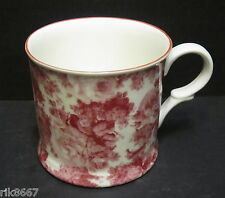 1 Laura Red English Fine Bone China Chintz Mug Cup Beaker By Milton China