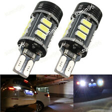 Xenon White No Error Canbus T15 W16W 5630 COB 15-LED Backup Reverse Light BulbX2