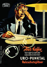 Ziess 1940s Rare German Bifocal Lens Optician ad 8 x 10 Giclee print