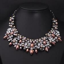 CELEB Vintage Silver Black Gold Crystal & Pearl Necklace By Rocks Boutique