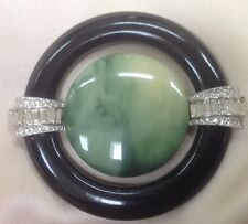 EXQUISITE!  VTG KENNETH JAY LANE KJL SIGNED ART DECO BROOCH / PIN