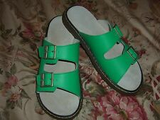 NICE Doc Dr Martens Green Ada Double Strap Slide Sandal Size US 9  UK 7 EU 41