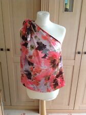 FABULOUS MISS SIXTY FLORAL ONE SHOULDER TOP UK SIZE X SMALL (6) BNWOT