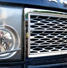 Chrome+Silver SUPERCHARGED style GRILLE upgrade kit for Range Rover L322 2002-05