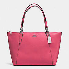 NWT Coach Crossgrain Ava Zip Tote Handbag in Strawberry F 57526 $350