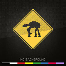 STAR WARS Decal Sticker | Imperial Walker Crossing Sign | Choose Color