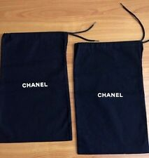 """Set of 2 CHANEL Black Authentic Dust Bag /Sleeper /Cover 12 1/2"""" x 7 3/4"""""""