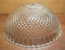 CENTER POST SPIKED DOME SHADE CLEAR THICK GLASS NICELY DESIGNED RIM & BOTTOM