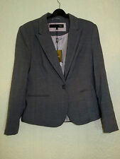 Ladies BNWT NEXT Tailored Suit Jacket RRP £40 Size 14 Petite Grey Silver