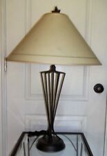 Longaberger Wrought Iron Metal Table Lamp w/ Shade and Maple Final  HTF !!!