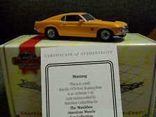 MATCHBOX 1970 FORD BOSS MUSTANG, MUSCLE CAR COLLECTION, DIECAST, MIB WITH COA