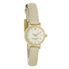 Kate Spade Tiny Metro Ladies MOP Dial Gold Leather Quartz Watch 1YRU0455