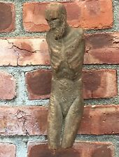 Antique 17th Or 18th Century Carved Wood Religious Figure At Crucifixion.