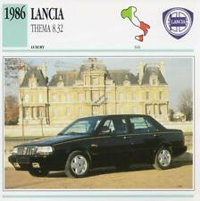 1986 LANCIA THEMA 8.32 Classic Car Photograph / Information Maxi Card