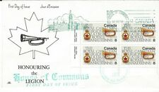 1975 #680 Royal Canadian Legion LL Plate Blk FDC with NR Covers cachet