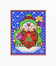 Happy Snowman~Large Pony Bead Banner Pattern Only