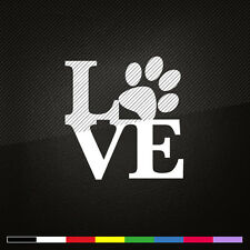 Paw with LOVE Dog Cat Pet Decal Car Window Laptop Vinyl Sticker