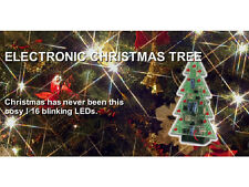 MK100RGY 16-RED/ 8-GREEN/ 8-YELLOW LEDs Electronic Christmas Tree  Soldering Kit