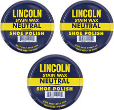 3 Pack - Lincoln USMC Neutral Stain Wax Shoe Polish