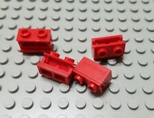 LEGO Lot of 4 Red 1x2 Brick Hinge Pieces
