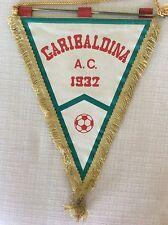 GAGLIARDETTO UFFICIALE CALCIO ANNI '60 IN RASO AC. GARIBALDINA 1932 CON BISCIONE