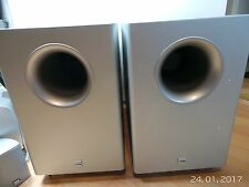 2x Canton AS10 Subwoofer Aktiv Silber + Spikes