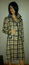 VINTAGE 60'S ABERCROMBIE & FITCH WOOL TWEED RETRO RARE GERMANY MADE COAT S M