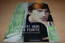 THOMAS DUTRONC  - PARFUM - DIF!!!!!2013 !!!FRENCH!!! PUBLICITE/ADVERT!!!
