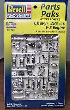 3 1957 CHEVY 283 V-8 ENGINE & TRANNY KITS 1:25 REVELL1998 NO LONGER MADE MINT