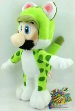 SUPER MARIO 3D WORLD - LUIGI GATTO PELUCHE - 24Cm. - Plush Cat Wii U Pupazzo