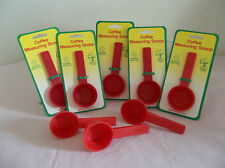 Twelve (12) Red COFFEE MEASURING SCOOP-Packaged For Retail Sale-NEW~Made in USA