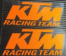 BULL-PRINTS ✓ KTM DUKE 200 390 RC HELMET TANK VINYL - RACING ORANGE 4INCH - PAIR