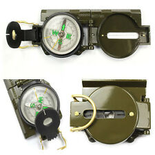 Pocket Outdoor Military Army Hiking Camping Lens Survival Lensatic Compass Hot V