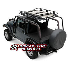 SMITTYBILT SRC ROOF RACK 300Lb RATED - BLACK - JEEP 1997-2006 WRANGLER TJ 76713
