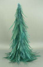 "Luxurious Deep Forest Green 12"" Christmas Feather Tree"