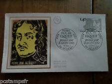 FRANCE 1980, FDC CELEBRITY, PIERRE PAUL DE RIQUET, CELEBRITE, VF FDC, TP 2100