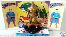 Gold color SUPERMAN Action Figure on Custom Comic Book Design Display Diorama